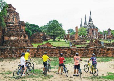 Cycling ruins in Ayutthaya
